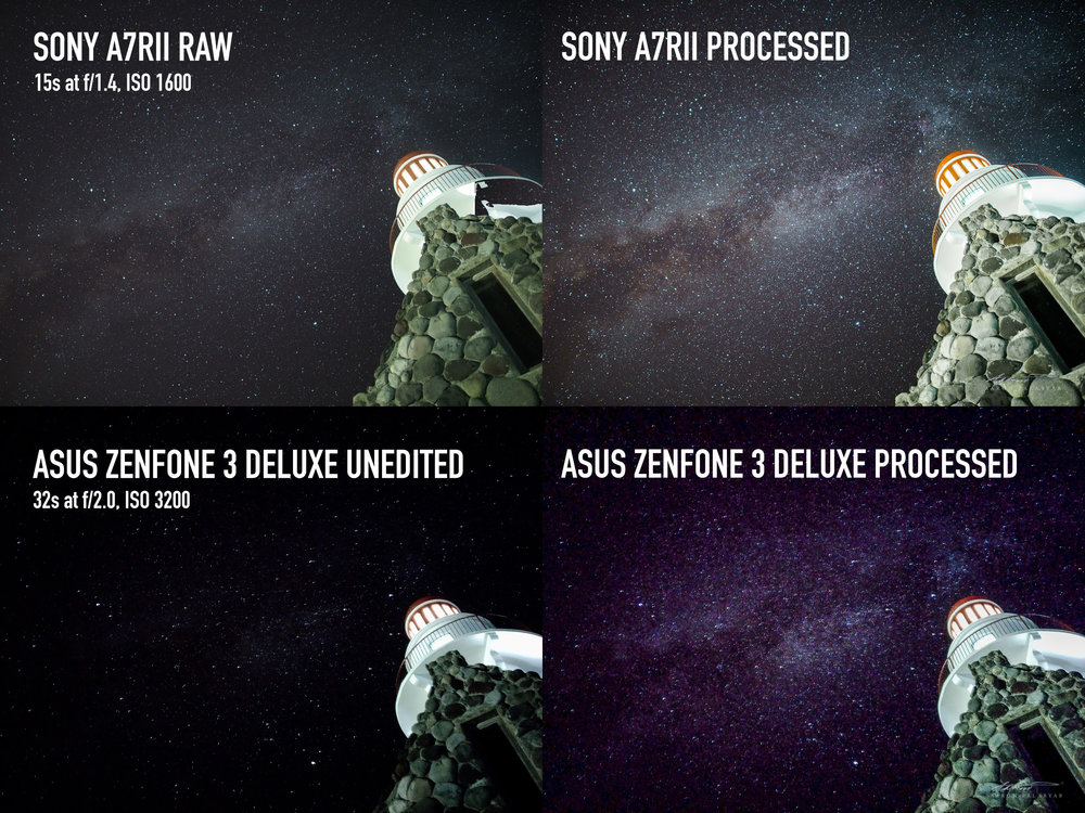 BEST IN CLASS MILKY WAY SHOOTER VS. SMARTPHONE. Click to enlarge.