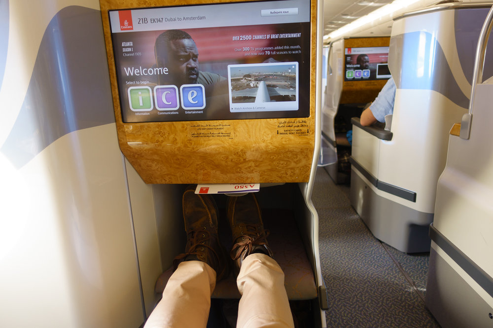 Emirates A380 legroom