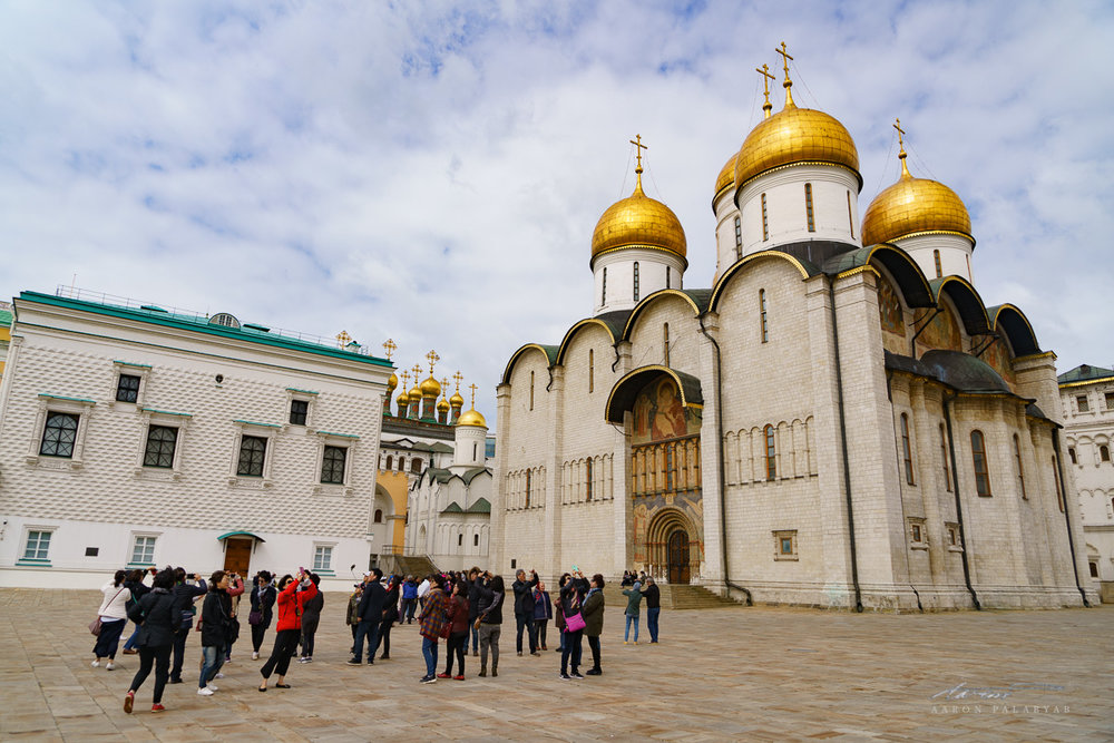 The Cathedral of the Assumption at Cathedral Square in the Kremlin