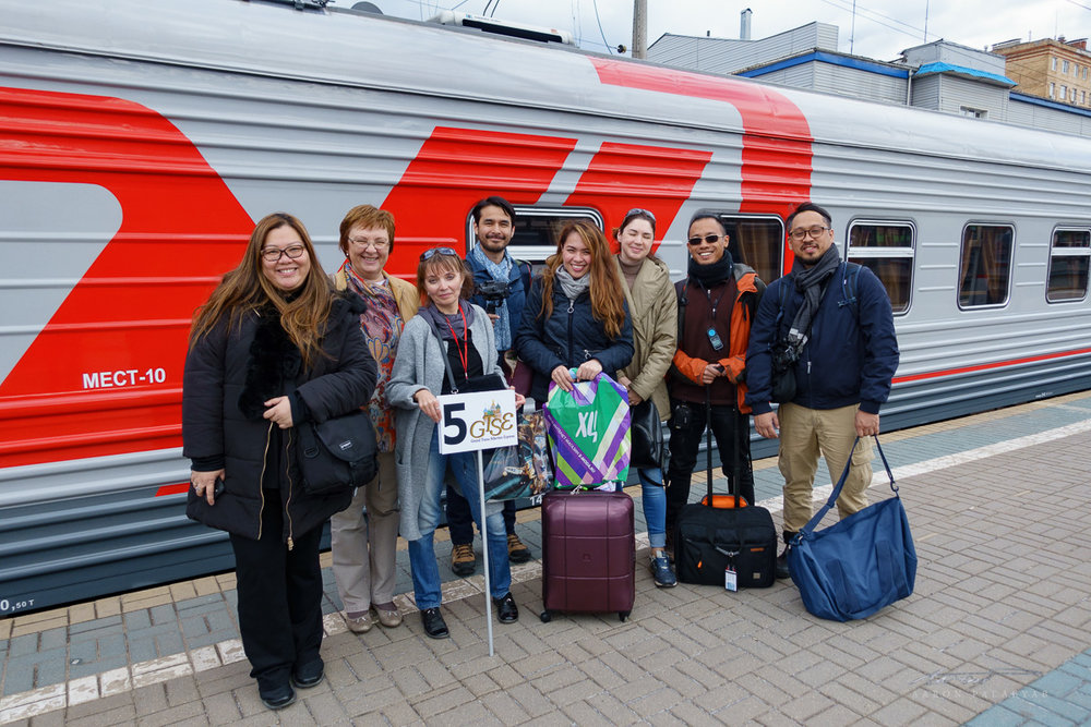 Our group prior to boarding the train