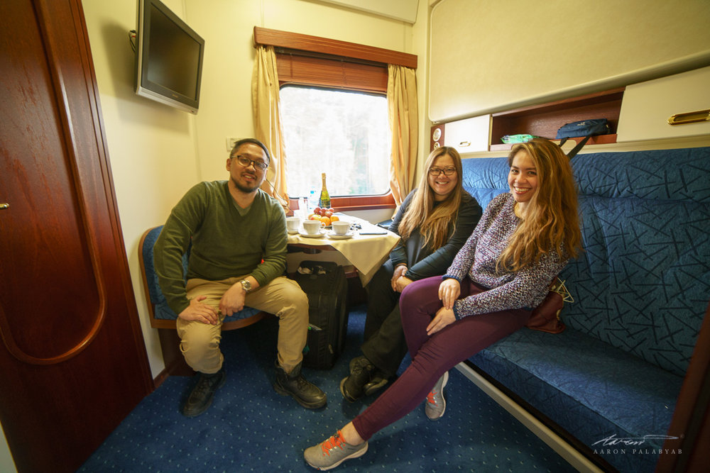 All smiles in our upgraded Deluxe Gold Cabins