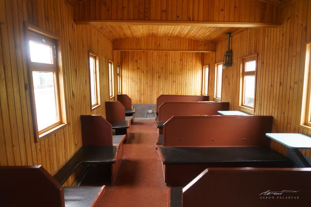 An old third class cabin at the Novosibirsk Railway Museum