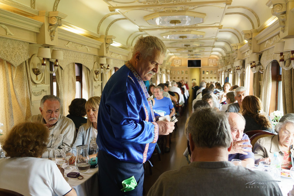Another dining car, assigned to the Spanish/South American group