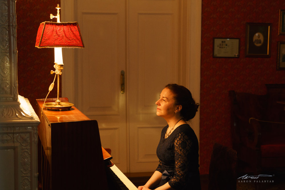 The pianist in the Volkonsky's drawing room