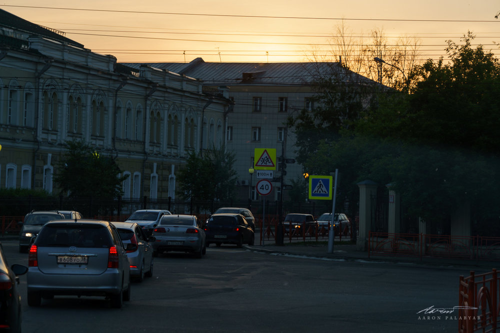 Irkutsk at sundown