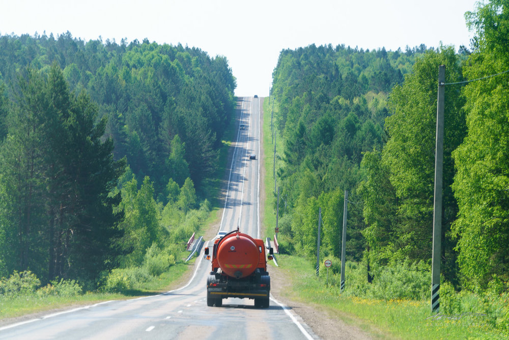 The road from Irkutsk to Lake Baikal