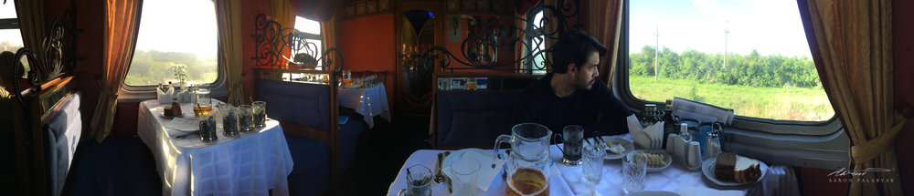 Panoramic view of our dining car