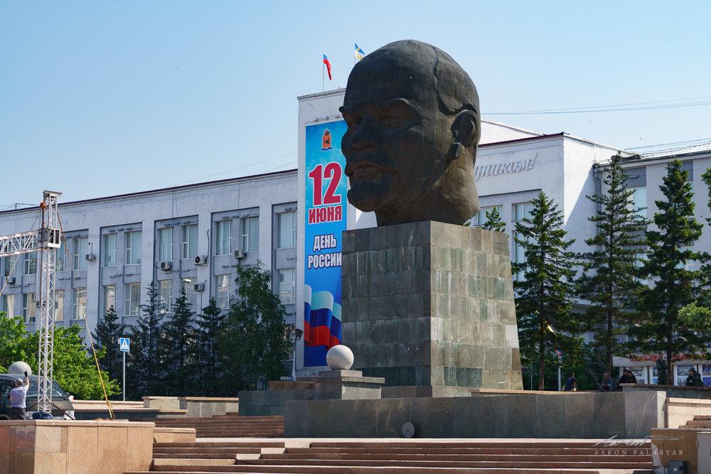 The famed giant Lenin head of Ulan Ude