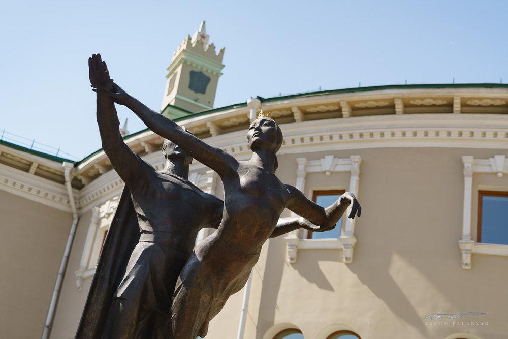 Statues outside the Opera House