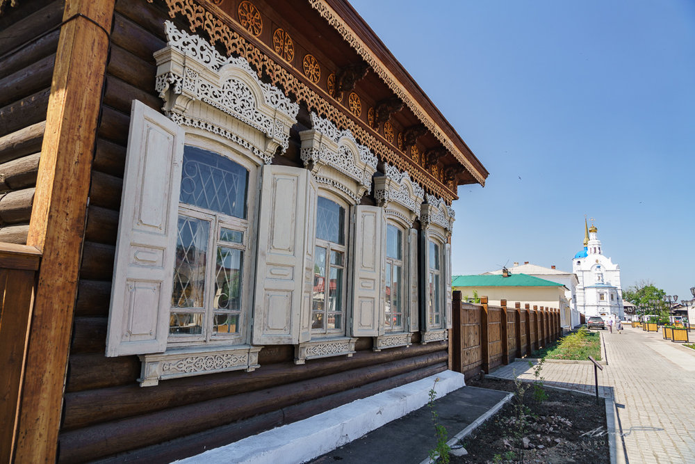 The traditional wooden lace architecture of the old downtown, where the intelligentsia used to live
