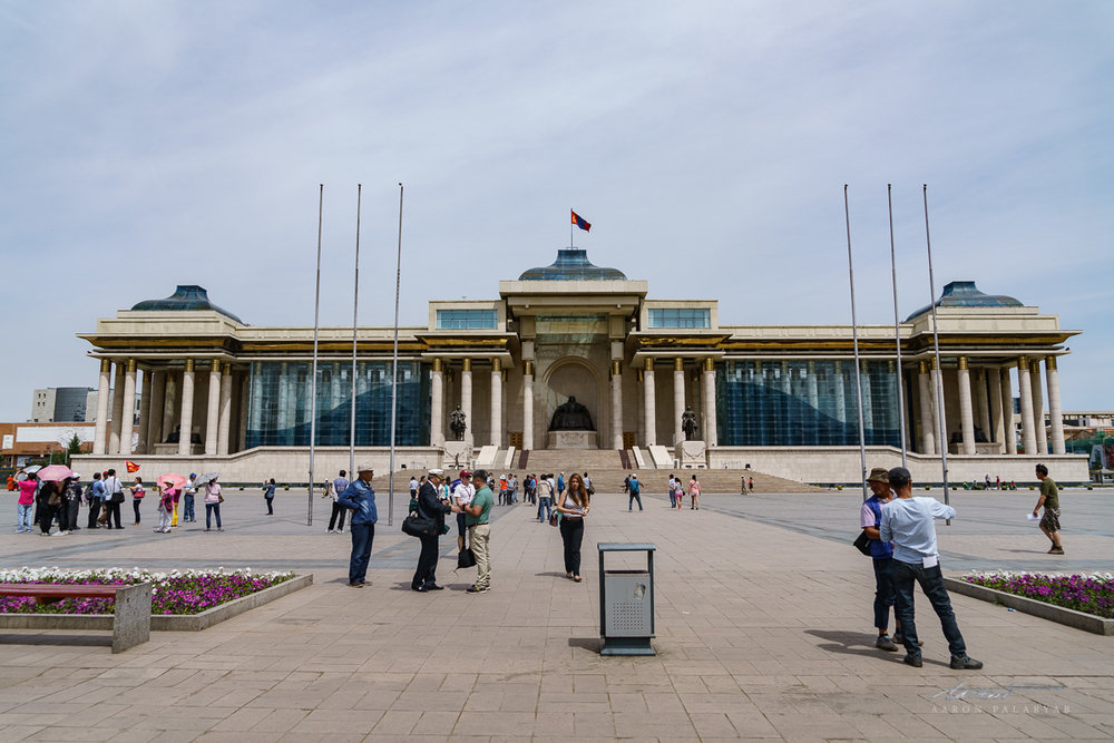 The Government Palace of Ulaanbaatar at Chinggis Square