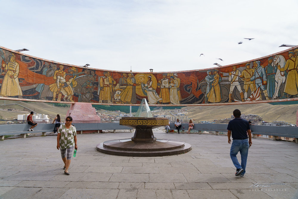 Mural at Zaisan Monument