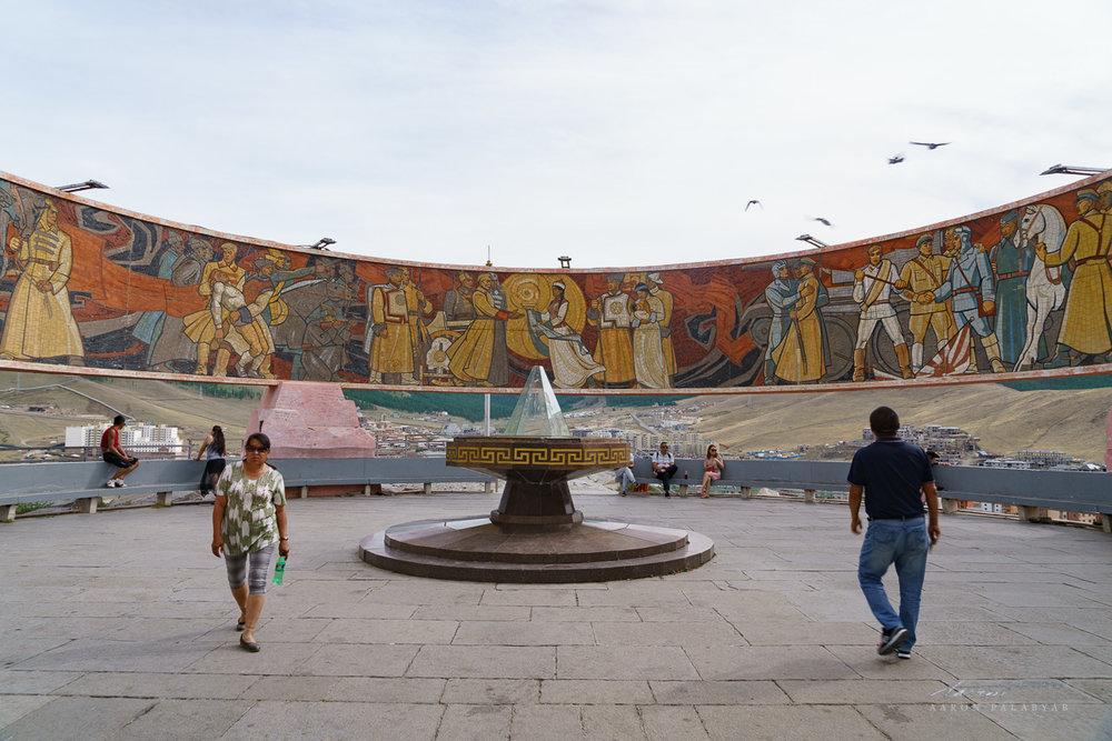 Mural at Zaisan Monument