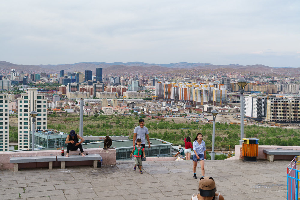 Looking back at Ulaanbaatar from Zaisan Monument