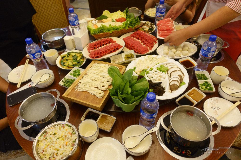 Mongolian hotpot dinner for five (?!)