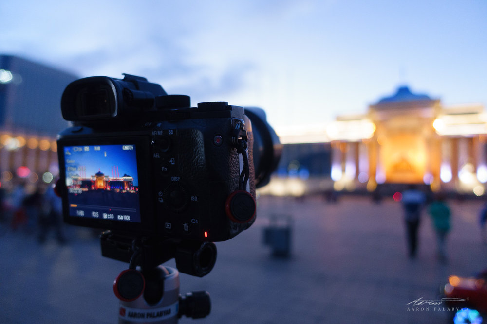 One time-lapse session for the road at Chinggis Square