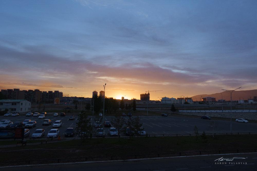 Sunrise at Chinggis Khan International Airport