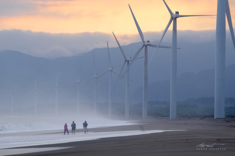 Sunrise at Bangui Windmills, Ilocos Norte