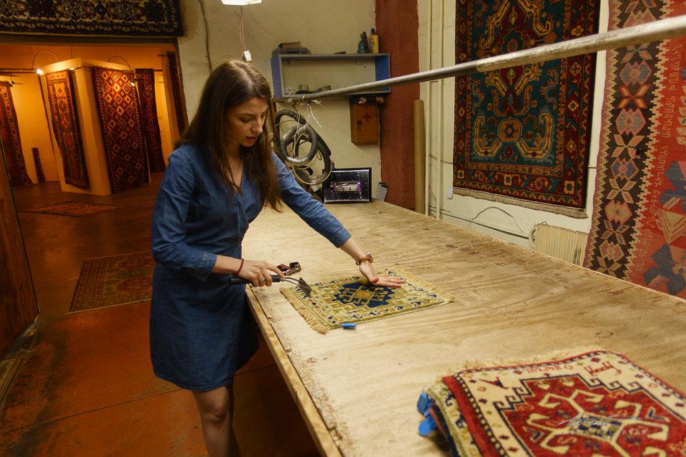 Carpet-making demo