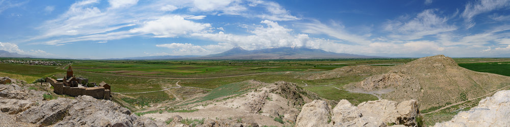 Panorama from the top of the hill at Khor Virap