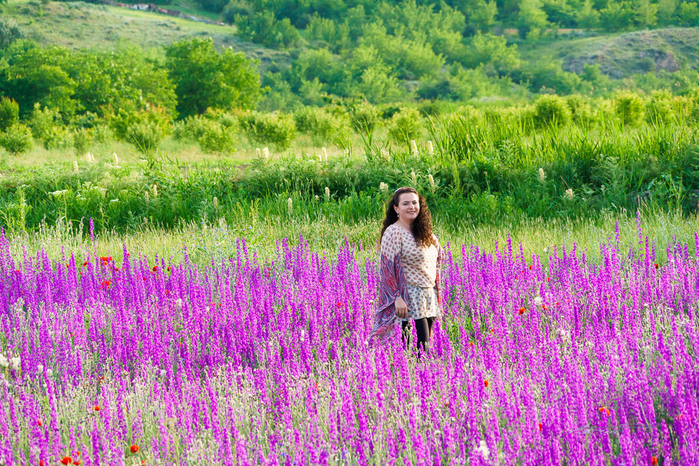 Our host and guide Varditer. We found a field of lavender on the way back to Yerevan and couldn't resist the opportunity to take photos.