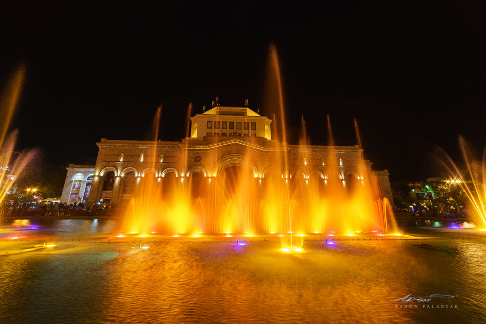 The Singing Fountains at Republic Square in Yerevan