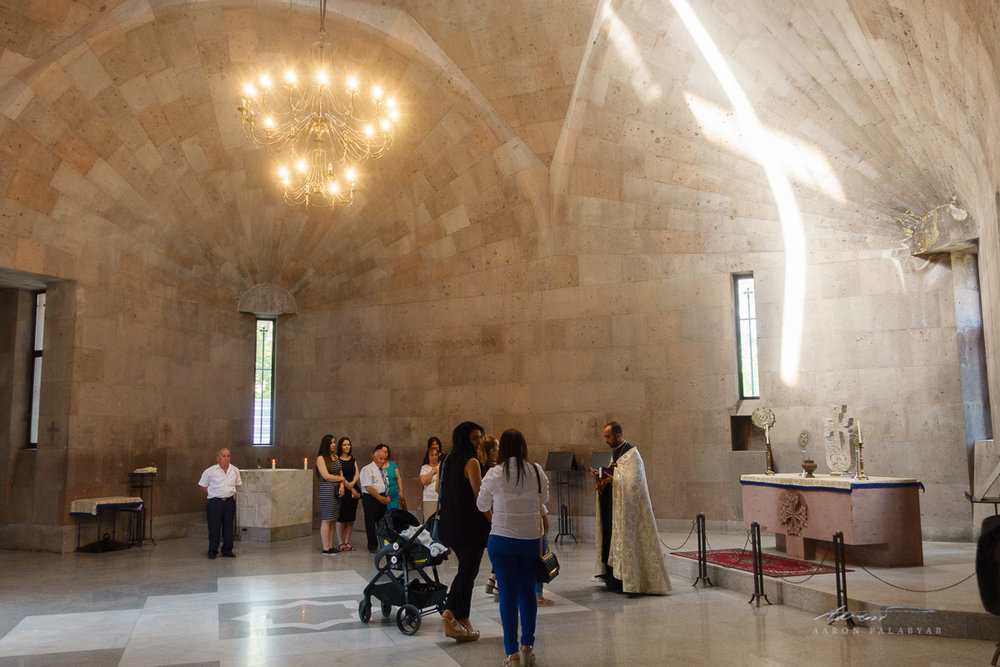 Baptism in a chapel by the cathedral