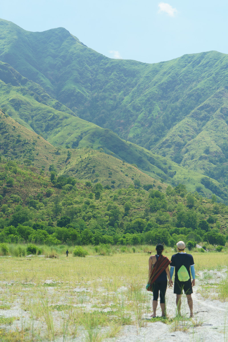Walking with a view of the Zambales mountains