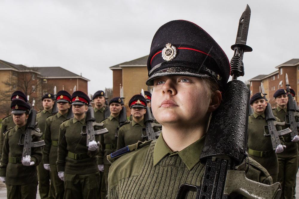 British Army Girls by Chris Brock
