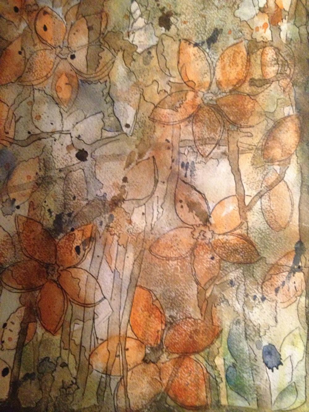 Nyanser    Akvarell   Mått 40x70      Kontakta mig