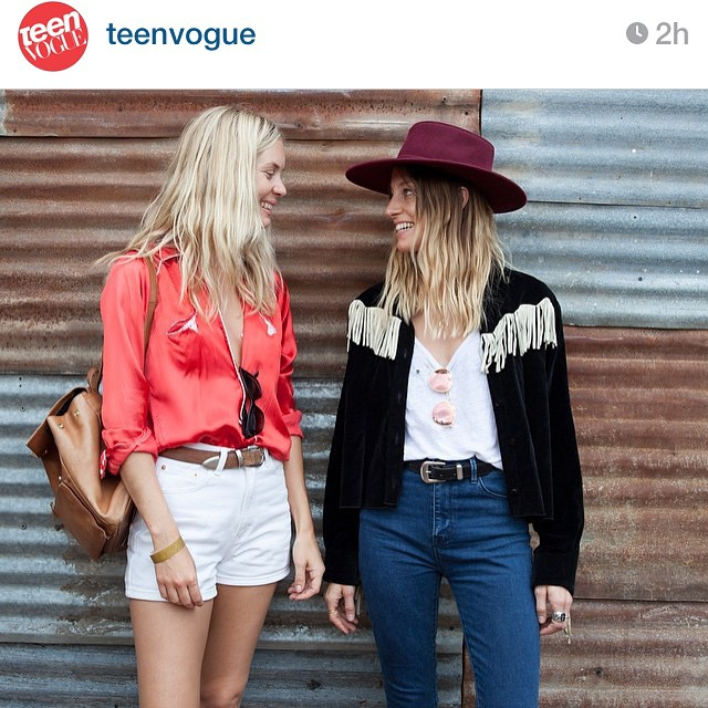 #Lonelydot on @teenvogue today! Check out their street style diary for more. Yeeehaww!!! @kateparfet