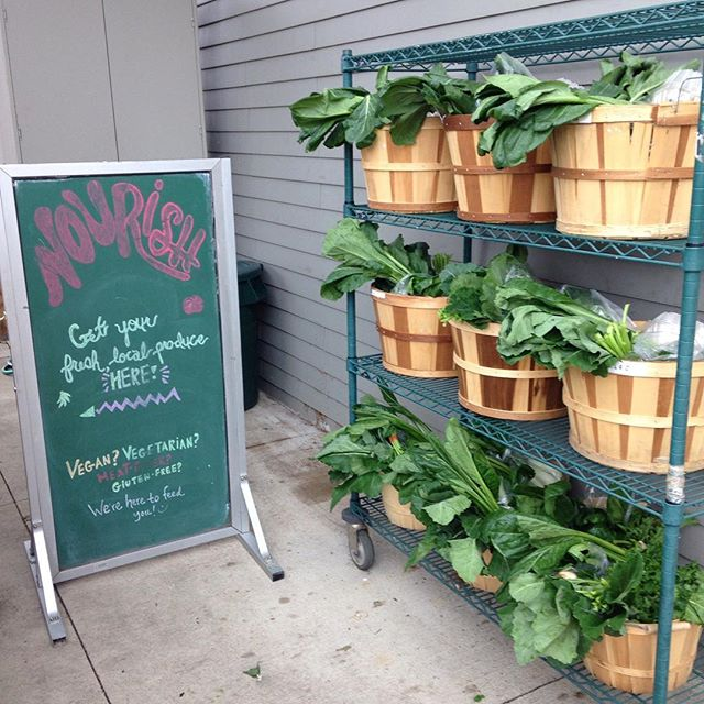 It's basket day at Nourish and they're loaded full of a beautiful array of Michigan grown produce! We're ready for you to pick them up! If you are not a member but are interested, feel free to ask an employee about the program! Enjoy the wonderful day!  #csa #supportlocal #michigangrown #localproduce #leafygreens #rootvegetables #kale #kaleyeah #westmichigan #organic #organicfood #organicveggies #goodforyou #nourishorganicmarket