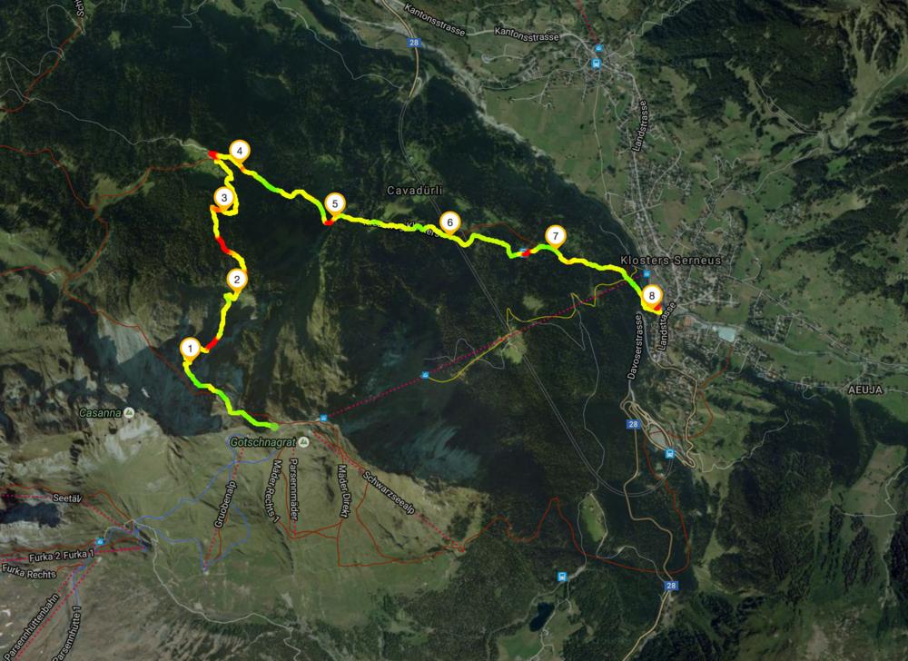 Route Gotschnagrat - Klosters