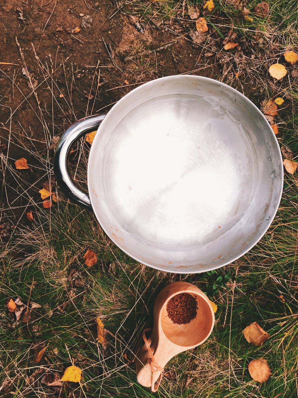 morgenliches Ritual: Wasser für den Kaffee kochen