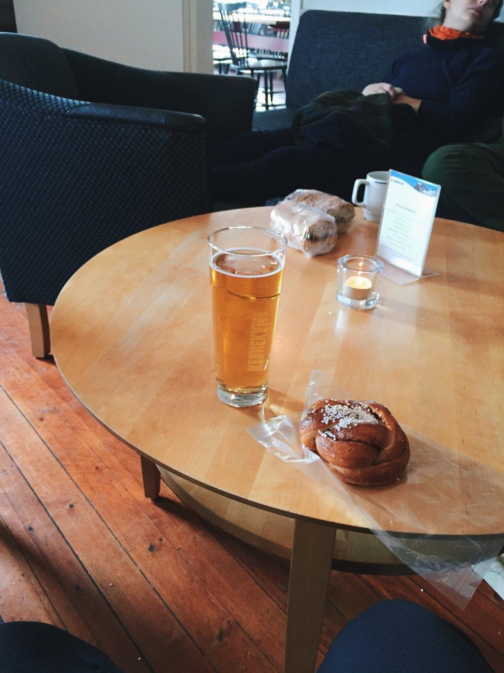 Bier und Zimtschnecken - ein Luxus