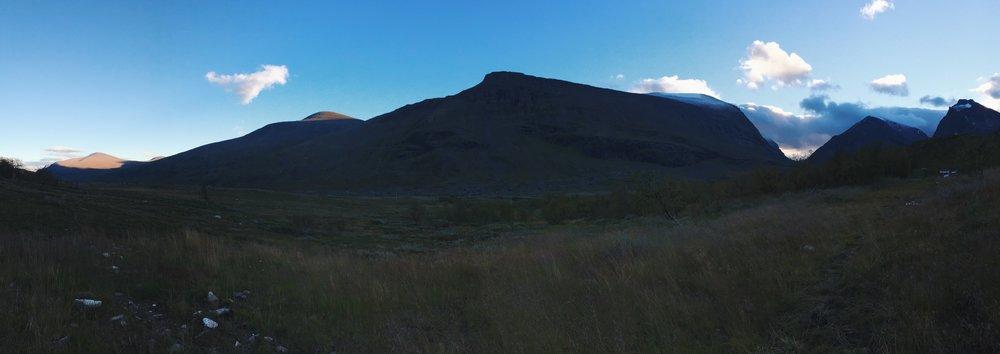 Sonnenuntergang in Kebnekaise