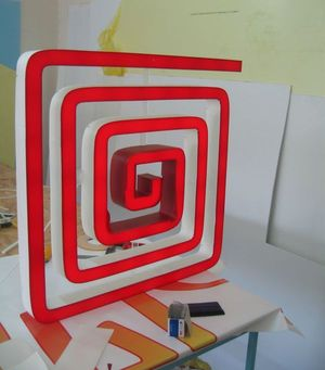 Объемный световой логотип сложной формы