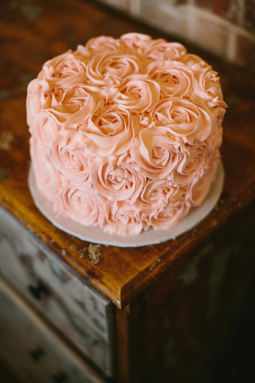 Ruffle And Rosette Cake