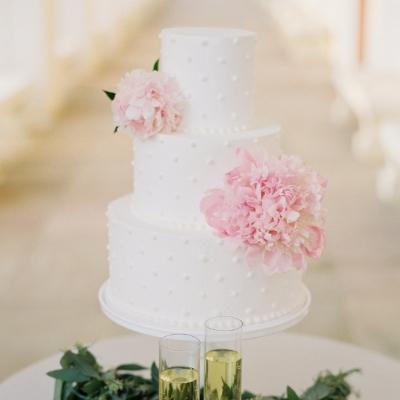 Sugar Bee Sweets Signature Wedding Cake: Timeless Swiss Dots