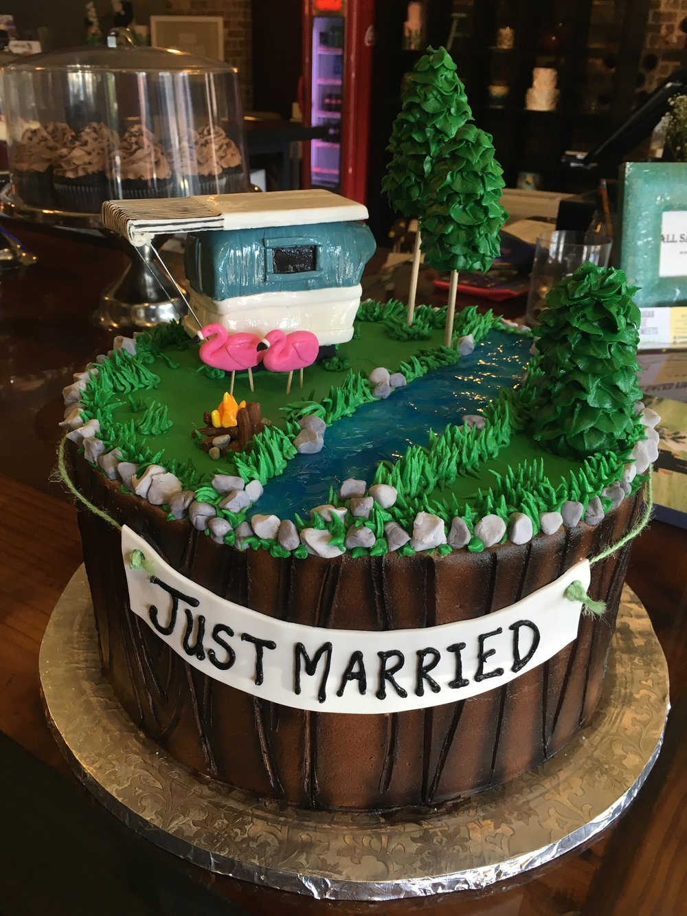 Just Married Groom Cake.JPG