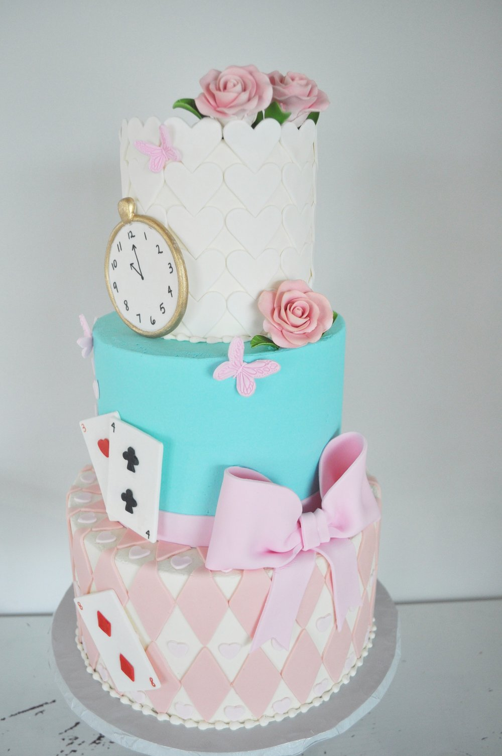 Pink and Blue Alice in Wonderland Cake.jpeg