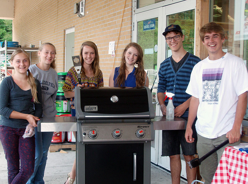 Saranac Lake, NY youth on the job with a BBQ fundraiser for their skatepark.
