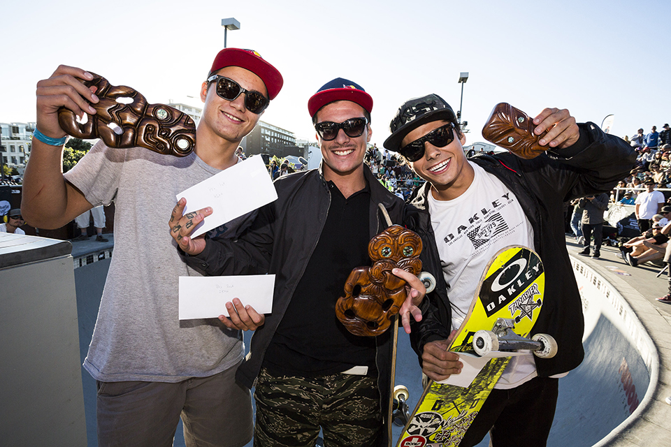 Left to right: Alex Sorgente (2nd), Pedro Barros (1st), Murilo Peres (3rd). Photo by David Read.