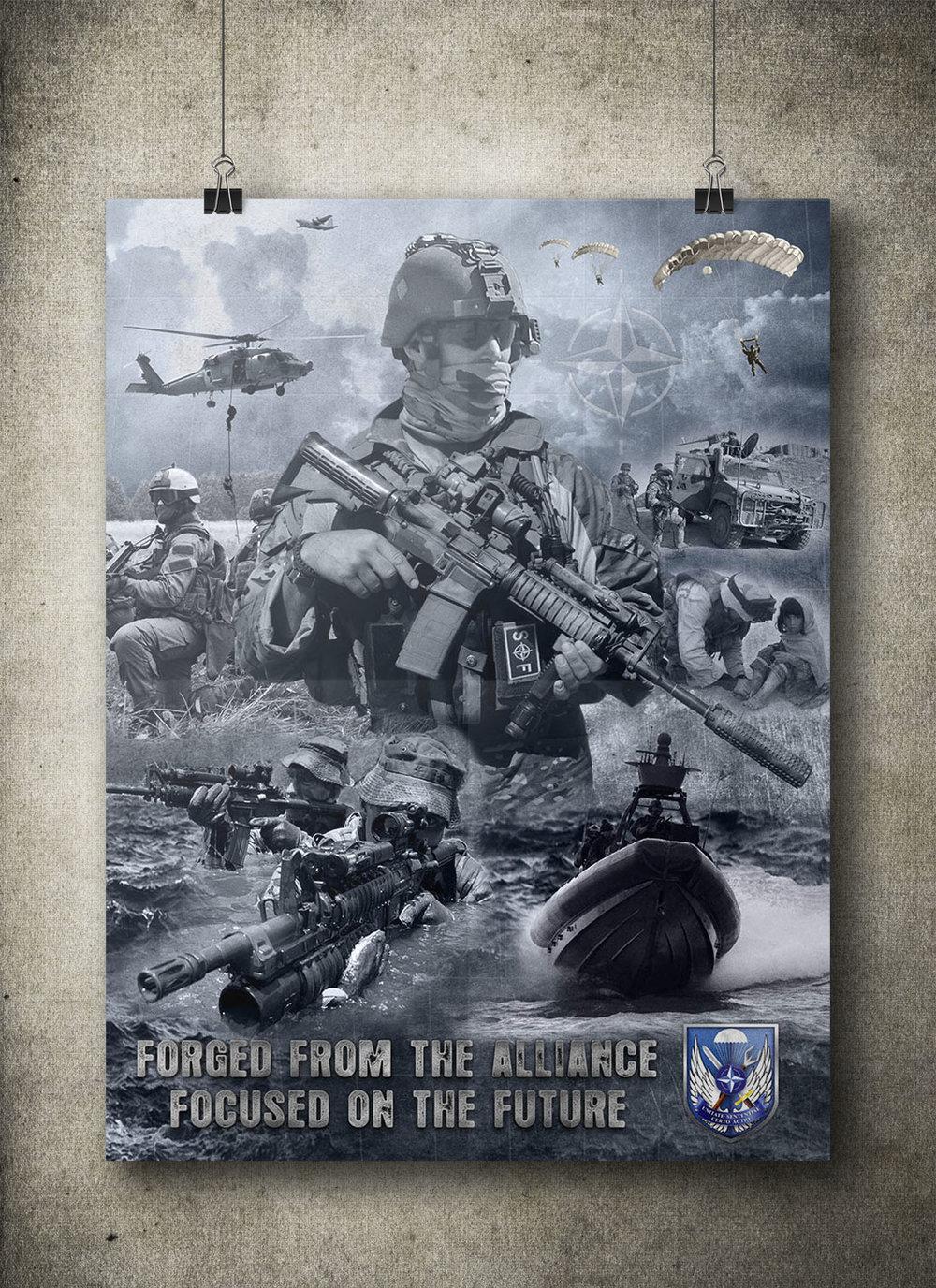 "NATO SOF School Poster 36""x48"""