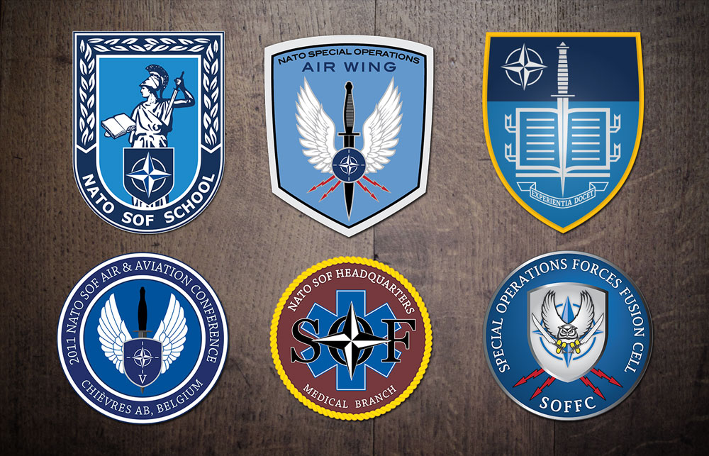 Headquarters sof hq Nato Special Operations Force Patch Various Styles