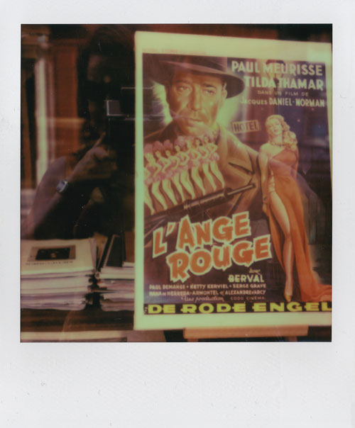 Red Angel across from 27 Rue de Fleurus, 2013, SX-70 Polaroid.