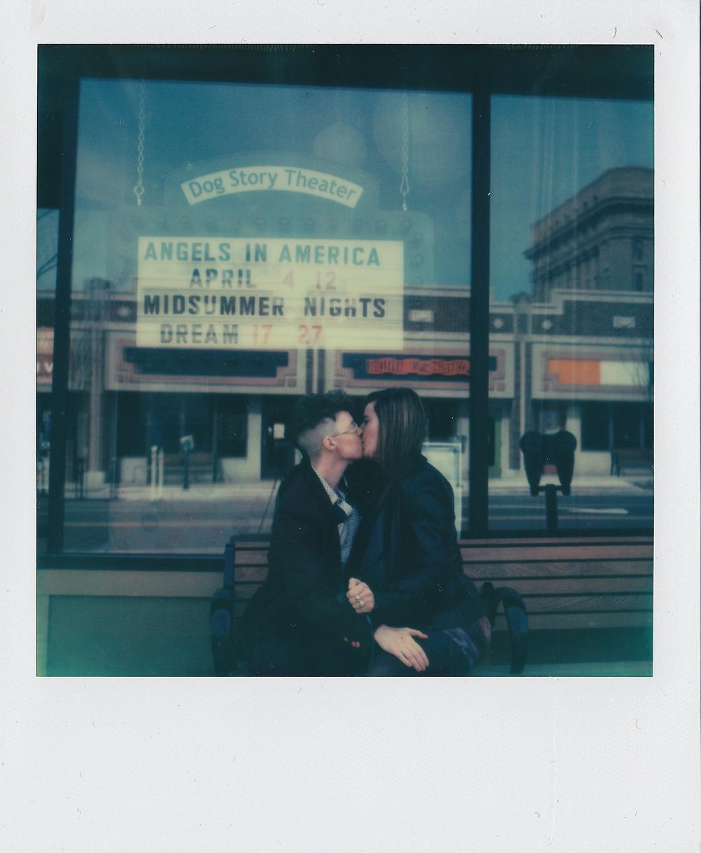 Dog Story Theater, Grand Rapids, Michigan , from  Kissing on Main Street,  2015, original SX-70 Polaroid.