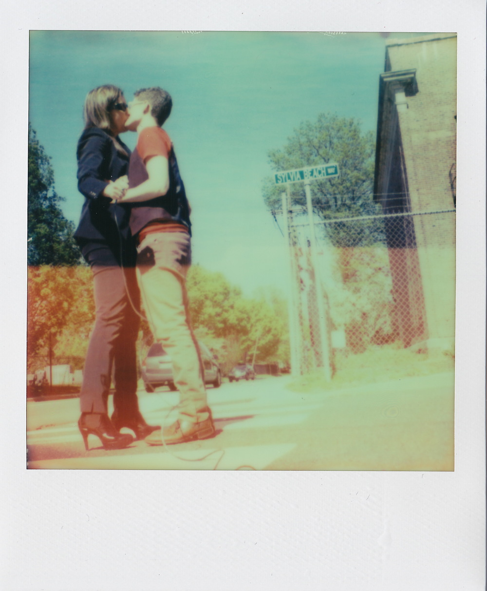 Sylvia Beach Way, Princeton New Jersey, from Kissing on Main Street, 2015, original SX-70 Polaroid.