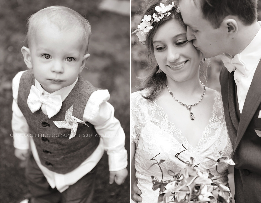 Their Sweet little boy, Lucian, all dressed up for Mommy and Daddy's Wedding.