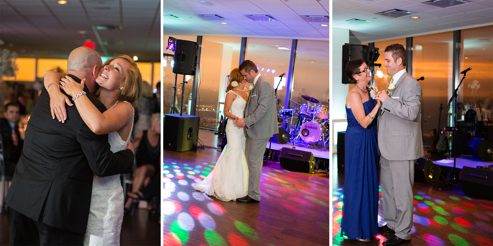 The first dances were beautiful, especially with that backdrop!